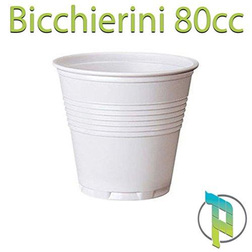 Palucart 4200 Bicchierini Caffe Bicchiere plastica Bianco 80cc Bar Macchina del caffè Bicchieri plastica