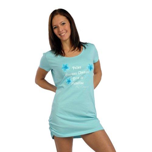 iQ-Company Palau T-shirt long pour femme Multicolore - Vert/bleu