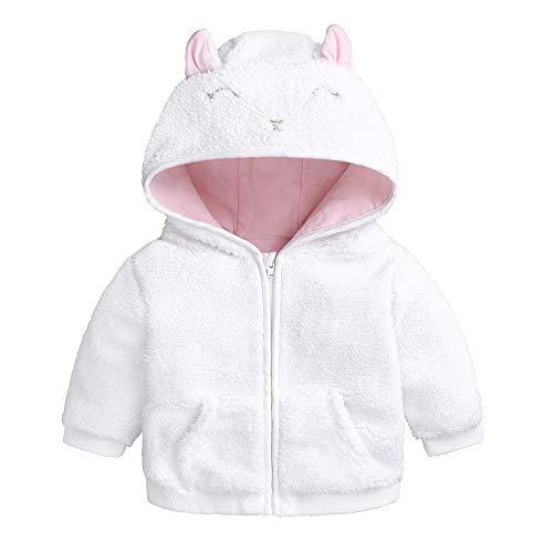 MEIbax Neugeborenen Kapuzenpullover Baby Warm Winter Coat Jungen Mädchen Cartoon Ohr Sweatjacke Tops Kleidung Mantel Coat Fleecejacke ()