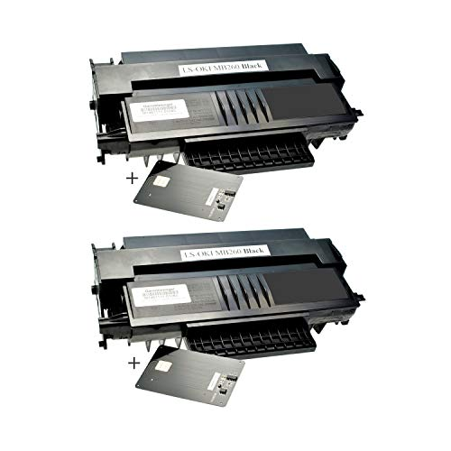 2 Toner für Oki MB260 01240001 Black - Schwarz je 5.500 Seiten, kompatibel zu 01240001