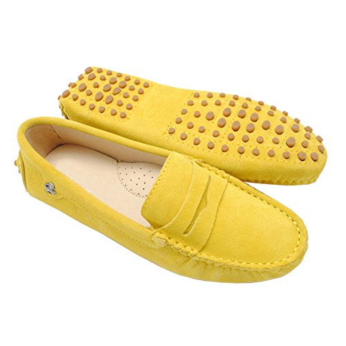 Minitoo, Punta chiusa donna Yellow-Suede Leather