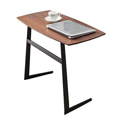Structural Steel Frame (HYLH Side Tables,Tables Designer Coffee Table Table In Modern Wood Look with Black Steel Frame (Color : Walnut, Size : 80 * 38 * 59cm))