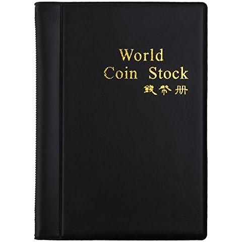 Mini Centesimo Tasca Soldi Moneta Stoccaggio Album Libro Di 120 Titolari Collezione Nero