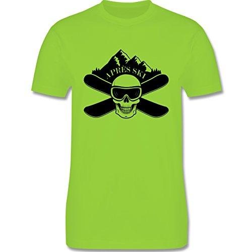 Après Ski - Apres Ski Totenkopf - Herren Premium T-Shirt Hellgrün