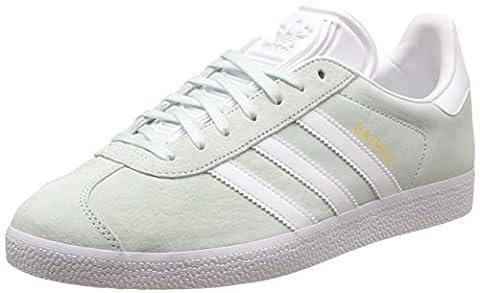 adidas Gazelle, Sneakers basses mixte adulte, Turquoise (Ice Mint/White/Gold Metallic), 47 1/3 EU