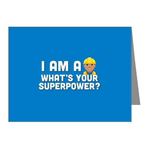 (CafePress Emoji Superpower Constructio Notizkarten, matt, 20 Stück)