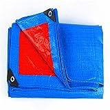 Kundengebundener starker PVC-überzogener Stoff-feuerfestes Tuch Drei Anti-Kleidungs-flammhemmendes Tuch-Hochtemperatur-Regen-Abdeckungs-Waren-wasserdichte Plane Rot + blau (Größe : 6MX6M)