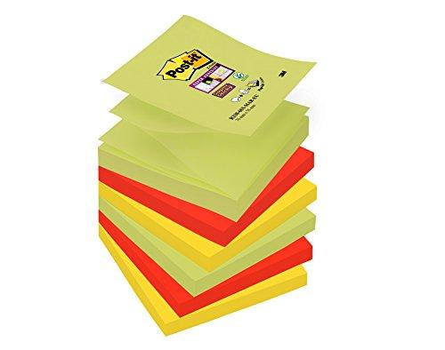 Post-it 51052Schlagsahnenkapseln für Z Super Sticky Haftnotizen-Spender in Farben Marrakesh, Stück 6Blöcke mit Film Single-90Blätter, 70–75g/m2
