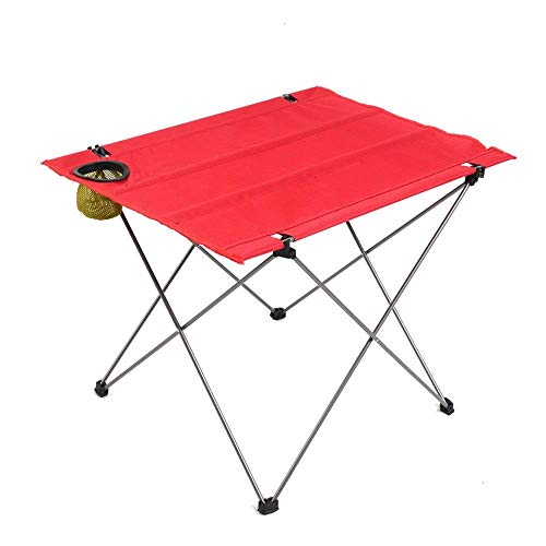 TKOVSKO Faltender Camp-Picknicktisch, tragbar im Freien, robuste Eisenkonstruktion und 600D Oxford-Tuch, leicht für Camping, Strand, Grill, Picknick