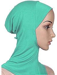 Hrph Femme Fichus Turban Écharpe Musulmane Hijab Islamique Châle Chapeau  Bonnet Hijab Foulard de Tête Musulmane c99359d776b