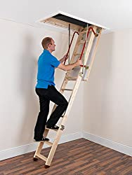TB Davies EnviroFold Wooden Loft Ladders - Inc. 26mm Insulated Hatch | Solid Spruce Treads | EN 14975 1.33 W/m2oC | Max Floor2Ceiling 2.82m (9.25ft)