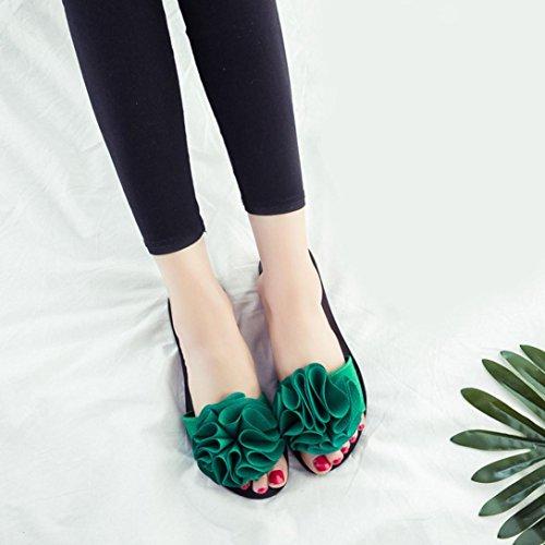 Lanspo , Tongs pour femme rouge bordeaux green