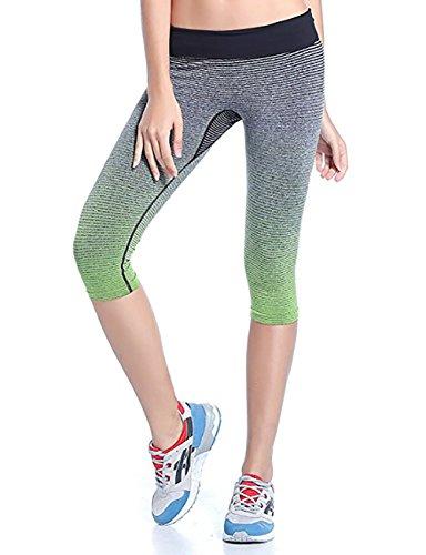 Fashionbabies - Leggings sportivi -  donna Green