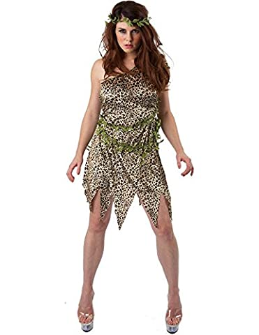 Adult Ladies Sexy Cavewoman Jungle Outfit Fancy Dress Costume Extra Large