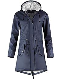 SWAMPLAND Femmes imperméable Veste De Pluie À Capuche Blouson Coupe Vent Manteau Imperméable Poncho - Parka - Manches Longues