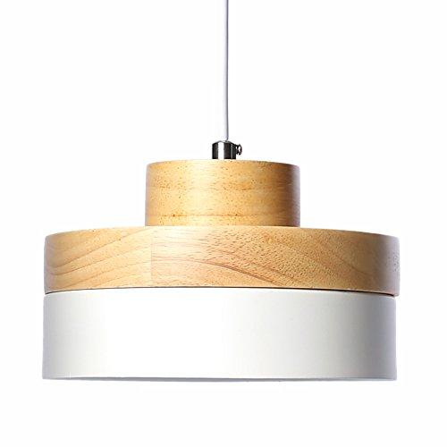 E27 Métal Vintage Suspensions Luminaires Lamps Antique Plafonnier Luminaire Lumiere Industriel Retro Suspensions Lumiere Lampe LED Aluminium Plafond Lustre Metal et Bois Luminaire éclairage Plafonnier Lustre Lampe (Blanc)