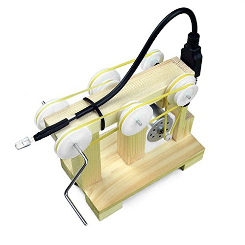 Praktisch präzise Generator Lehrmittel Wissenschaft Puzzle Kleine Schraubenschlüssel DIY Material Handkurbel Generator Experimentelle Montiert Modell Spielzeug