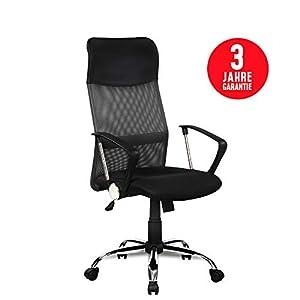 Inova Design Bürostuhl ergonomisch für optimalen Sitzkomfort Büro Stuhl orthopädischer Bürostuhl schwarz mit Armlehnen…