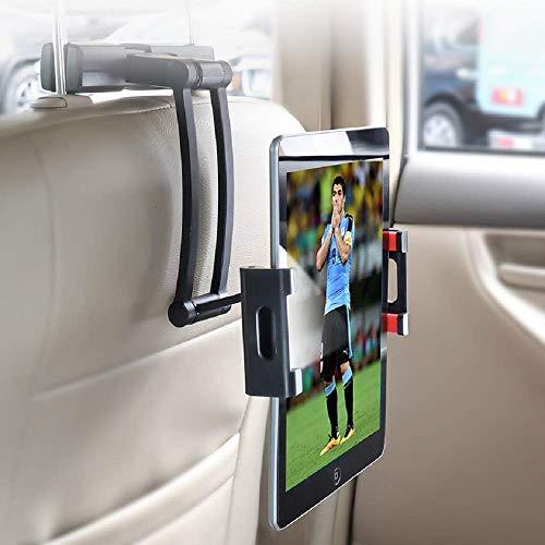 YONTEX Tablet Halterung Auto Kopfstützenhalterung, Verstellbare KFZ-Kopfstützen Halterung, Universal Kompatibilität für Smartphone und Tablet mit 5 bis 12,9 Zoll, iPad Air Mini, iPad Pro usw.