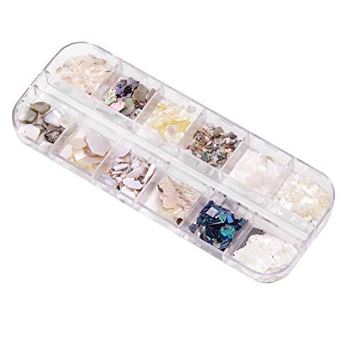 Lurrose Natural Meer 3d Charme Nail Art Highlight Nagel Pailletten DIY Nagel Schönheit Zubehör