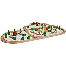 Eichhorn Rails avec circuit en bois de Croisement ferroviaire 80pièces avec Lok bois Chemins De Fer