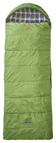 Grand Caynon Utah - warmer Deckenschlafsack, besonders weich und angenehm durch Baumwoll-Flanel im Innenbezug, 3-Jahreszeiten, Extrem: - 20°, für Camping, Outdoor, Festival, grün, 301013