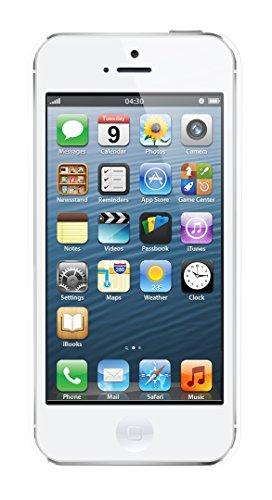Apple iPhone 5 - Smartphone libre iOS (pantalla 4', cámara 8 MP, 16 GB, Dual-Core 1.3 GHz, 1 GB RAM), Blanco, Reacondicionado