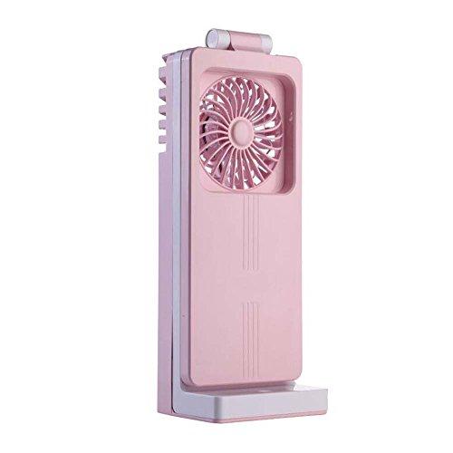 Ventilator Schreibtischlampe, 3 Beleuchtungsmodi Tischlampe, USB-Lade Schreibtischlampe, Mini-Ventilatorlampe, Stick-on Anywhere Tischleuchte, Outdoor, Indoor 1,5W YDYG (Farbe : Rosa)