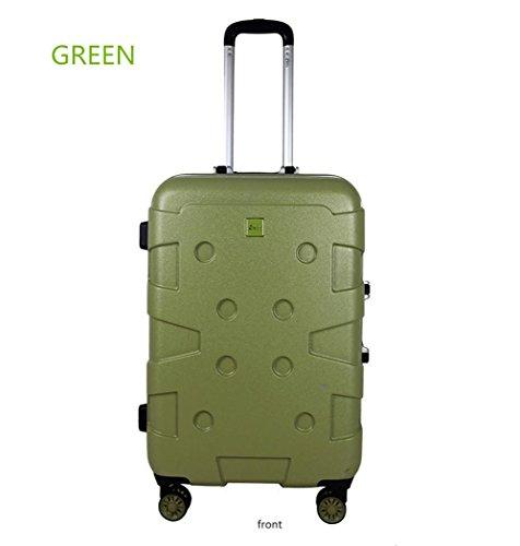 Xiuxiandianju bagaglio di viaggio trolley turismo business (20 pollici, 24 pollici) caster impermeabile terremoto-resistente all'usura , green , 24 inch