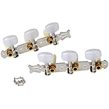Alice 2 x 3 Tuning pegs tuner machine heads for classical guitar - chrome A018C
