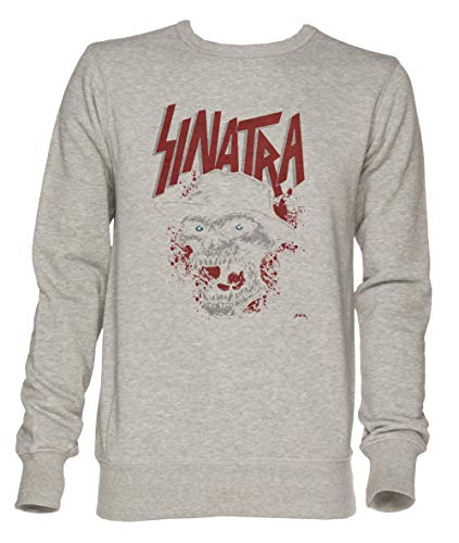Jergley Shoo be do be Doom! - Sinatra Unisex Grau Jumper Sweatshirt Herren Damen Größe XL | Unisex Jumper Sweatshirt for Men and Women Size XL -