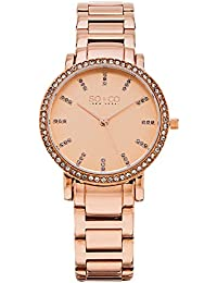 SO & CO New York Madison Women's Quartz Watch with Rose Gold Dial Analogue Display and Rose Gold Stainless Steel Bracelet 5060.2