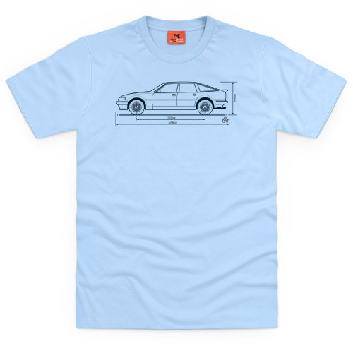 PistonHeads SD1 Vitesse Executive car T-Shirt, Herren Himmelblau