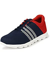 Fucasso Men's Synthetic Blue Red Sports Shoes
