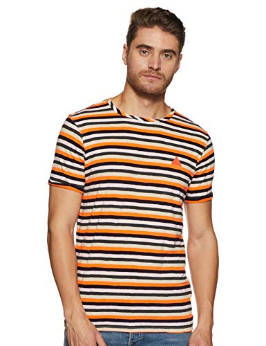 Scotch & Soda Herren AMS Blauw Simple Jersey Tee with Contrast Stitch and Badge T-Shirt, Mehrfarbig (Combo D 20), Medium (Herstellergröße: M) -