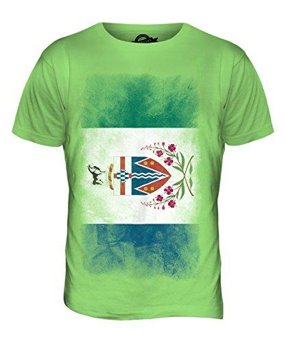 CandyMix Yukon Verblichen Flagge Herren T Shirt Limettengrün
