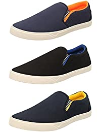 Chevit Men's Combo Pack of 3 Loafers & Moccasins (Casual Shoes)