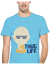 ECOSOUL Thug Life Half Sleeve Graphic Printed Boys Men Round Neck T Shirt Tees Shirts Gift Sale( 4 Color / Size )