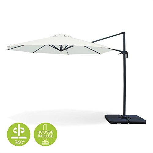 alice s garden parasol d port octogonal 350cm biscarosse ecru parasol excentr. Black Bedroom Furniture Sets. Home Design Ideas