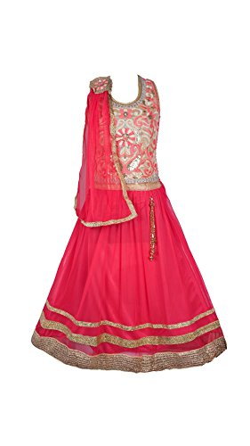 My Lil Princess Baby Girls Birthday Party wear Frock Dress_Red Lehenga Choli_Net...