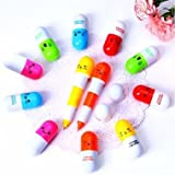 VITAMIN Ball Pen Point Cartoon Face Telescopic Pills Pen