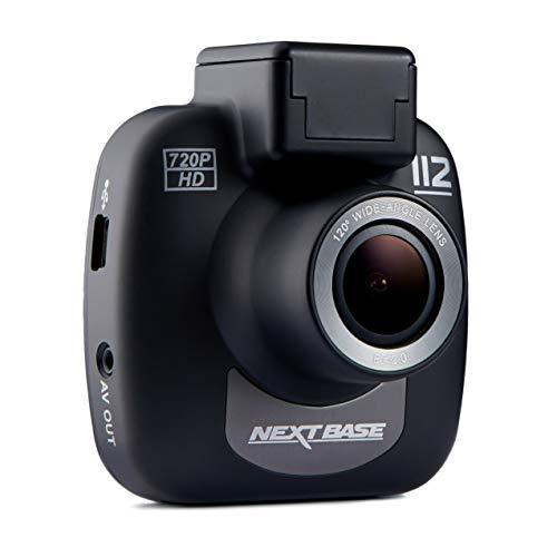 Nextbase 112 - 720p HD Dashcam Überwachungskamera & Auto-Kamera mit DVR Aufnahme Funktion - 120 ° Betrachtungswinkel (Schwarz)