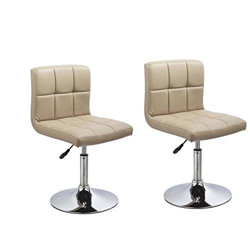 2er Set Esszimmerstuhl Cappuccino aus Kunstleder Küchenstuhl mit Lehne höhenverstellbar drehbar Stuhl Duhome 0636