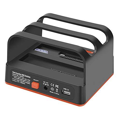 USB 2.0 Festplatte Docking Station Dual Festplatte Base 2 Mobile Festplatte Box Externe Kartenleser für 2,5 Zoll & 3,5 Zoll HDD SSD SATA