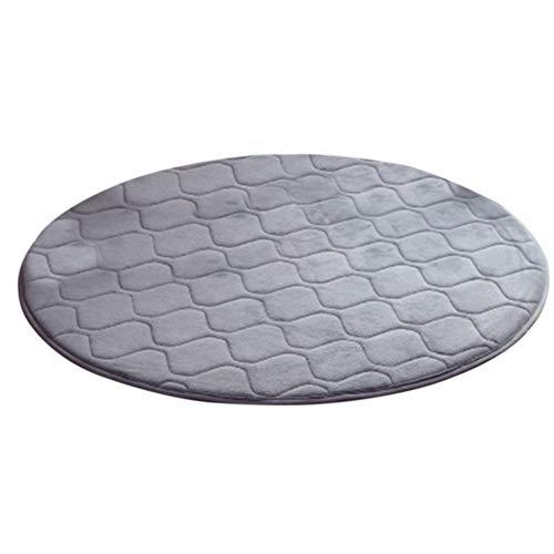 jasminelady 60 cm einfarbig runden Teppich Wohnzimmer Couch Sofa Sessel Bett Fitness Kissen Teppich Dekor Silver Gray