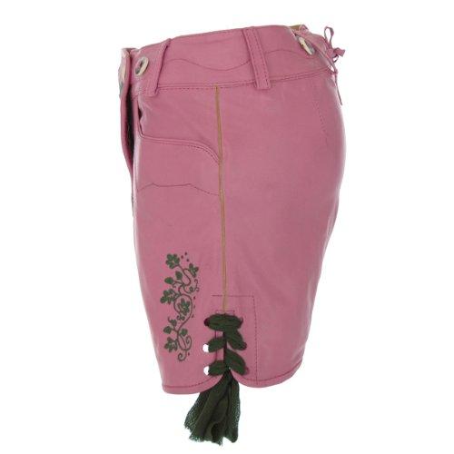 Lederhose Rosi für Damen in Rosa von Almsach Rosa