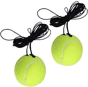 Amigo S.L - 2 palline da tennis con corda elastica per tennis e
