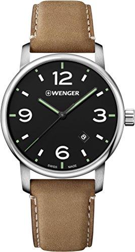 Wenger Reloj Analogico para Unisex de Cuarzo con Correa en Cuero 01.1741.117