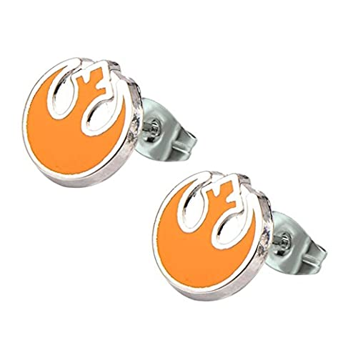 Official Stainless Steel Rebel Alliance Symbol Enamel Stud Earrings