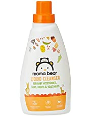 Amazon Brand - Mama Bear Plant Based Baby Liquid Cleanser - 500 ml (For baby bottles, accessories, toys, fruits & vegetables)